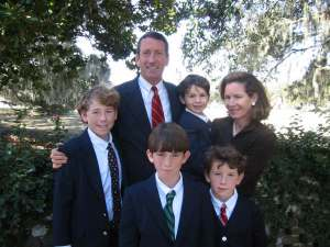 Just in case you think I'm being glib, here is the family that the governor abandoned for a week.